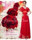 BNWT RITA Red Chiffon Prom Bridesmaid Evening Ballgown Maxi Dress UK 8 -18