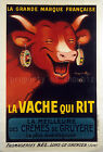 Vintage La Vache Qui Rit French Ad print poster, large 4 sizes available