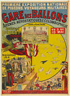 Vintage French Gare de Ballons Ad print poster, large 4 sizes available