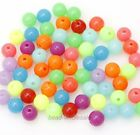 100 Pcs Mixed Send Acrylic Plastic DIY Finding Round Ball Loose Spacer Beads 8mm