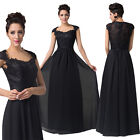 Vintage Cap Sleeve Evening Prom Bridesmaid Ball Party Long Formal Dress Gowns HF