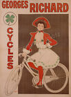 Vintage Georges Richard Cycles Military print poster, large 4 sizes available