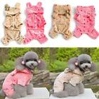 Cute Pet Dog Soft Warm Jumpsuit Coat Polka Dot Puppy Hoodie Clothes Jacket S-XXL