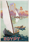 Vintage Egypt Travel advertisement print poster, large 4 sizes available