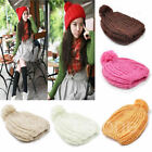 Winter Warm Women Lady Beret Braided Baggy Beanie Crochet Knitted Hat Cap Hats