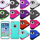 For iPhone 6 (4.7 inch) -Hard&Soft Rubber Hybrid Armor Impact Defender Skin Case
