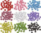 100 Pcs Colorful Round Metal Spacer Beads Loose Hollow Beads DIY 8mm