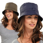 Waterproof Bucket Hat Mens Womens Ladies Casual Country Fishing Cap Fleece Lined