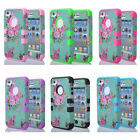 Orchid Flower Hybrid Rubber Combo Impact Shockproof Case Cover F iPhone 4 5 LDLH