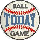 Ball Game Today Round Wall Decal