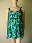 Beach Native Classic Swimsuit Modest Swimdress Blue Green Mottled Print 5063L