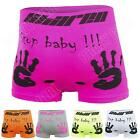 New Mens Stop Baby Hand Print Boxer Novelty Briefs Trunks Underwear Size S M L