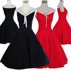 Vintage Dancing Party Ball Swing Jive Rockabilly Skirt 50s 60s Dresses Polka Dot