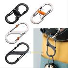 S-Biner Slide Lock EDC Gear Dual Carabiner Black or Silver Stainless Steel LS4G