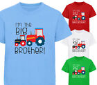 I'M THE BIG BROTHER! TRACTORS BOYS DESIGNER TSHIRT T SHIRT KIDS CHILDRENS