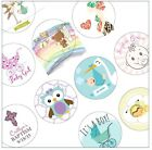 Personalized Baby Shower Invitation Favor White Sticker Seals - You pick design!