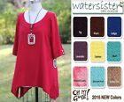OH MY GAUZE Cotton  MARCY Long Tunic Top 1 (M/L/XL)  2 (XL/1X/2X)  2015 COLORS