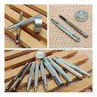 Die Punch Tool Kit Set for 10/12.5/15/17mm Snap Fasteners Press Studs Button DIY