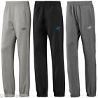 ADIDAS ORIGINALS MEN SPO TREFOIL FLEECE TRACK PANTS S M L XL BLACK GREY CHARCOAL