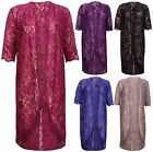 Womens Floral Lace Ladies Short Sleeve Long Open Kimono Cardigan Top Plus Size