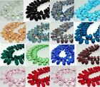 10PCS Teardrop CRYSTAL GLASS LOOSE BEADS 10*20MM U choose color