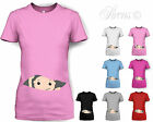 PEEKING BABY FUN CUTE DESIGNER MATERNITY PREGNANT T SHIRT TSHIRT SHOWER GIFT