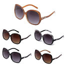Women Designer Round Oversized Crooked Temple Fashion Sunglasses IG9347 Multi