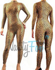 Sexy Leopard Animal Cheetah Cat Woman Mock Neck Unitard,Bodysuit Costume S-3X