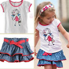 Girl Baby Kid Top+Skirt 2PC Outfit Set Casual Clothing Costume HOT ITEM
