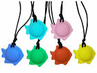 Child Adult Fish Chewy Necklace for SEN, Autism, ADHD, Biting, Sensory Relief