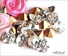 Swarovski Vintage CLEAR Diamante 1100 CRYSTALS Pointed Gold Foil Stones CHOICE