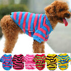 Dogs Pets Cats Puppy Winter Warm Fleece Striped Clothes Apparel T Shirts Hoodies