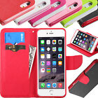 For Apple iPhone 6 Plus Canvas Leather Flip Stand Wallet Case Cover W/Card Slot