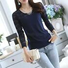 Casual Women Cotton Long Sleeve T-Shirt Tee Bottoming Tops Blouse Size S-2XL B39