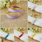 New Vogue Womens Lady's Jewelry Gold Plated Bracelet Cuff Bangle  8Color U Pick