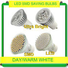 6 12 60 x LED SMD Bulbs 3W-6W 60 SMD Spot Light Lamp Day Warm White GU10 UK POST