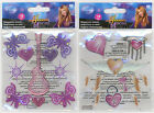 U CHOOSE  Disney Hannah Montana GUITAR & BUTTERFLIES HEART WINGS 3D Stickers