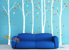 "Wall Decor Decal Sticker Removable 90""H  birch bird tree 2 colors DC0202 6 trees"