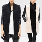 Women's Trench Slim Winter Warm Coat Long Wool Jacket Outwear Parka Size 8-14