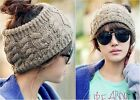 Women Fashion APLE Knitting Wool Winter Warm Knit Wide Hair Band Headband Hat