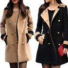 Fashion Women's Double Breasted Warm Trench Coat Outwear Long Jacket Overcoat