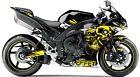 Yamaha Skull Fairings Graphic Wrap Kit Full Skulls Complete Decals Set Vinyl New