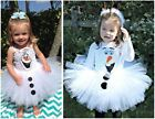 NEW FROZEN OLAF TUTU WHITE FAIRY GIRL DRESS COSTUME PARTY BIRTHDAY HOLIDAY