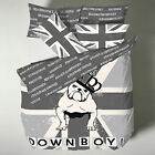 Catherine Lansfield British Bull Dog Grey Percale Duvet Quilt Cover Bedding Set