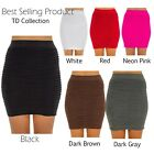 Womens Stretch Candy Color Bodycon Tight Slim Fit Ladies Pencil Short Mini Skirt