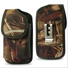 Vertical Camo Tree Nylon Belt Clip Case Pouch For Samsung Mega Nokia Lumia HTC