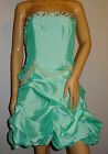 New Nazz UK Gemed Pearl Green Party Dress UK Sizes 14