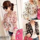 Quality Womens Floral Print Short Chiffon Royal Girls Coat Jacket Amazing Hot