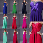 Stock CHEAP Strapless Formal Chiffon Long Cocktail Prom Gown Evening Party Dress