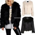 Women Cardigan Faux Fur Jacket Winter Long Sleeve New Luxury Thicken Coat N98B
